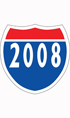 "Interstate Sign Windshield Stickers - ""2008"""