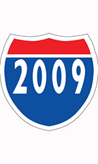 "Interstate Sign Windshield Stickers - ""2009"""