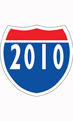 "Interstate Sign Windshield Stickers - ""2010"""
