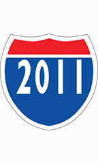 "Interstate Sign Windshield Stickers - ""2011"""