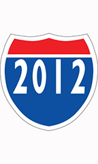 "Interstate Sign Windshield Stickers - ""2012"""