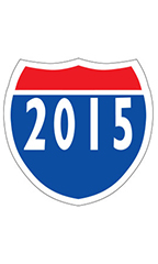 "Interstate Sign Windshield Stickers - ""2015"""