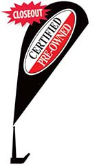 "Clip On Paddle Flag Kit - ""Certified Pre-Owned"" - Red"