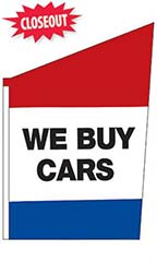 "2-Sided Spacewalker Flag - ""We Buy Cars"""