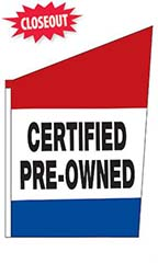 "2-Sided Spacewalker Flag - ""Certified Pre-Owned"""