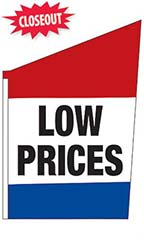 "2-Sided Spacewalker Flag - ""Low Prices"""