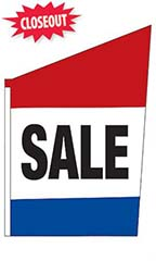 "2-Sided Spacewalker Flag - ""Sale"""