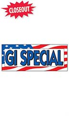 "Windshield Banner With Bungee Cord - ""GI Special"""