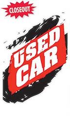 "Jumbo Under The Hood Sign - ""Used Car"""