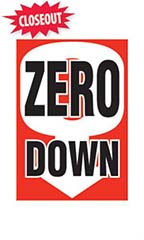 "Jumbo Under The Hood Sign - ""Zero Down"""