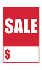 "Quick Sale Stickers - Red - ""Sale"""
