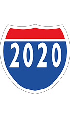 "Interstate Sign Windshield Stickers - ""2020"""
