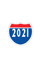 "Interstate Sign Windshield Stickers - ""2021"""