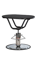 PetLift Classic Hydraulic Grooming Table with Oval Rotating Top