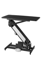 PetLift MasterLift LowRider Electric Grooming Table with Rotating Top - Black