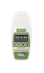 SOOS Natural Dead Sea Two-in-One Pet Shampoo & Conditioner (250ml/8.45 oz.)