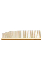 Utsumi Stainless Combination Comb 6.5 inch - Gold