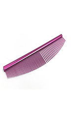 Utsumi Stainless Curved Comb Half Moon (Pink)
