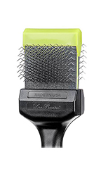 Les Poochs Pro Brush Medium-Soft (Lime Green Color) - Pooch Pro Brush