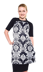 Catalina Two Pocket Reversible Apron - Damask Pattern