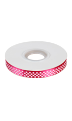 Love Groomers Pink Satin Ribbon with Polka Dots
