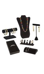 Black Velvet Jewelry Display Variety Pack