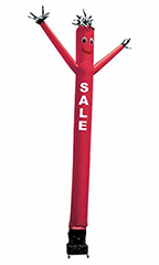 "Red Inflatable Dancing Man with ""Sale"""