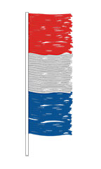 Red/Blue/Silver Metallic Antenna Pennant Fringe