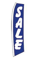 "Blue ""Sale"" Wave Flag"