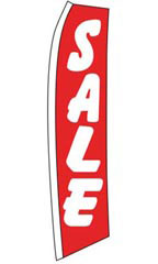 "Wave Flag - ""Sale"" - Red"