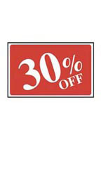 30% Off Rectangle Sign Card