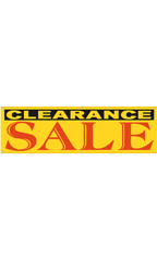 Large Yellow Clearance Sale Banner