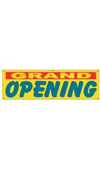 Large Yellow Grand Opening Banner