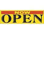 Large Yellow Now Open Banner