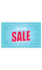 Medium Holiday Sale Sign Card - Sparkles