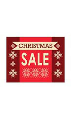 Small Christmas Sale Sign Card