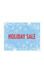 Small Holiday Sale Sign Card - Snowflakes