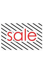 Medium Sale Sign Card - Diagonal Stripes