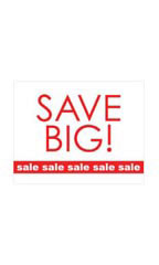 Small Save Big - Sale, Sale, Sale Sign Card