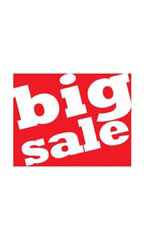 Small Big Sale Sign Card