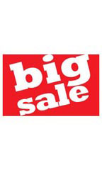 Medium Big Sale Sign Card