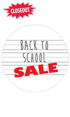 Circle Back to School Sale Sign Cards
