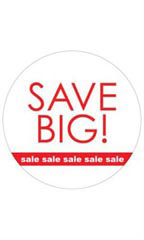 Circle Save Big! Sale, Sale, Sale Sign Cards