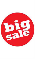 Circle Big Sale Sign Cards