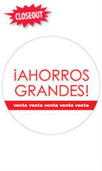 Circle Ahorros Grandes Sign Cards