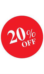 Circle 20% OFF Sign Card