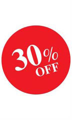 Circle 30% OFF Sign Card