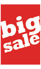 Large Vertical Big Sale Sign Card