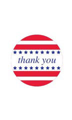 Americana Thank You Stickers - Case of 30