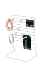 6-Peg White Wire Countertop Rack